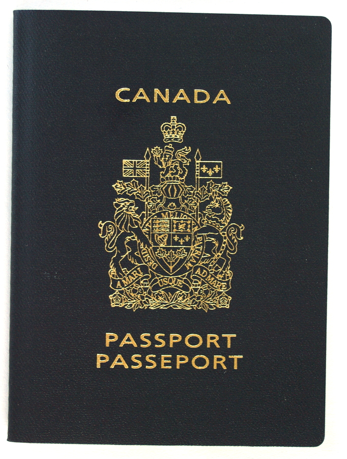Passport for Canada in English and French