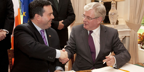 Canadian Minister of Immigration and Irish counterpart