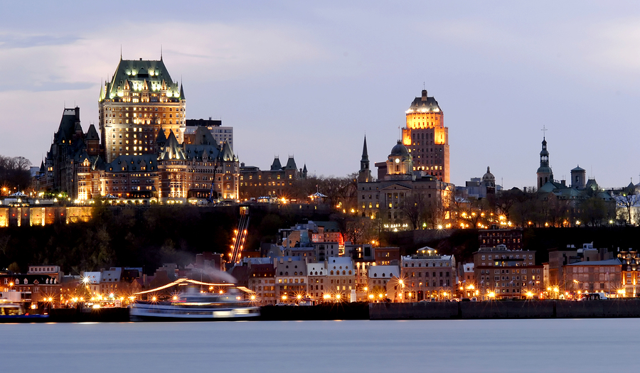 Quebec with the Chateau Du Frontenac